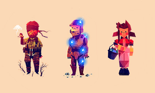 Olly Moss - Video Games Doodles4