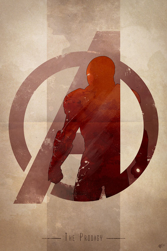 Anthony Genuardi - Avengers Logo - Iron Man