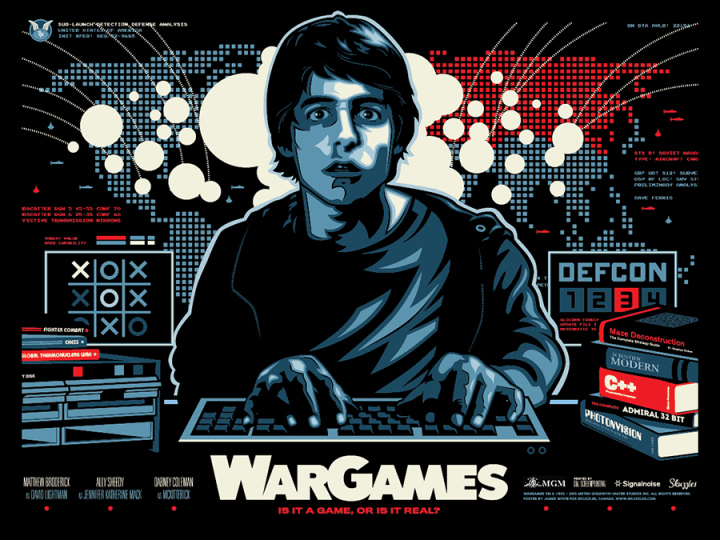 James White aka Signal Noise - War Games Poster