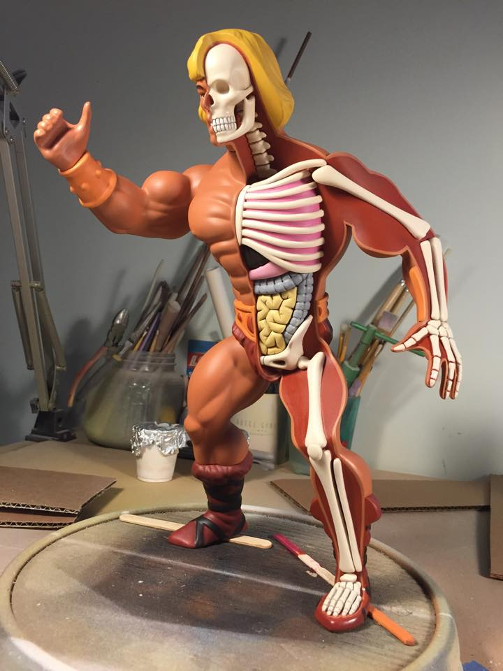Jason Freeny Anatomical He Man Geek Art Art Design