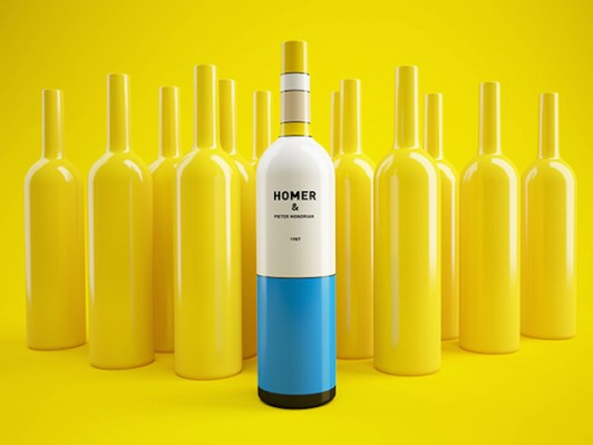 Constantin Bolimond and Dmitry Patsukevich - Simpsons Wine Bottles 4